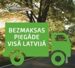 Bezmaksas piegāde visā Latvijā