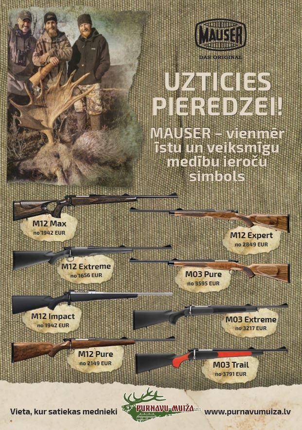 Mauser M12 - wide choice in Purnavu Muiža